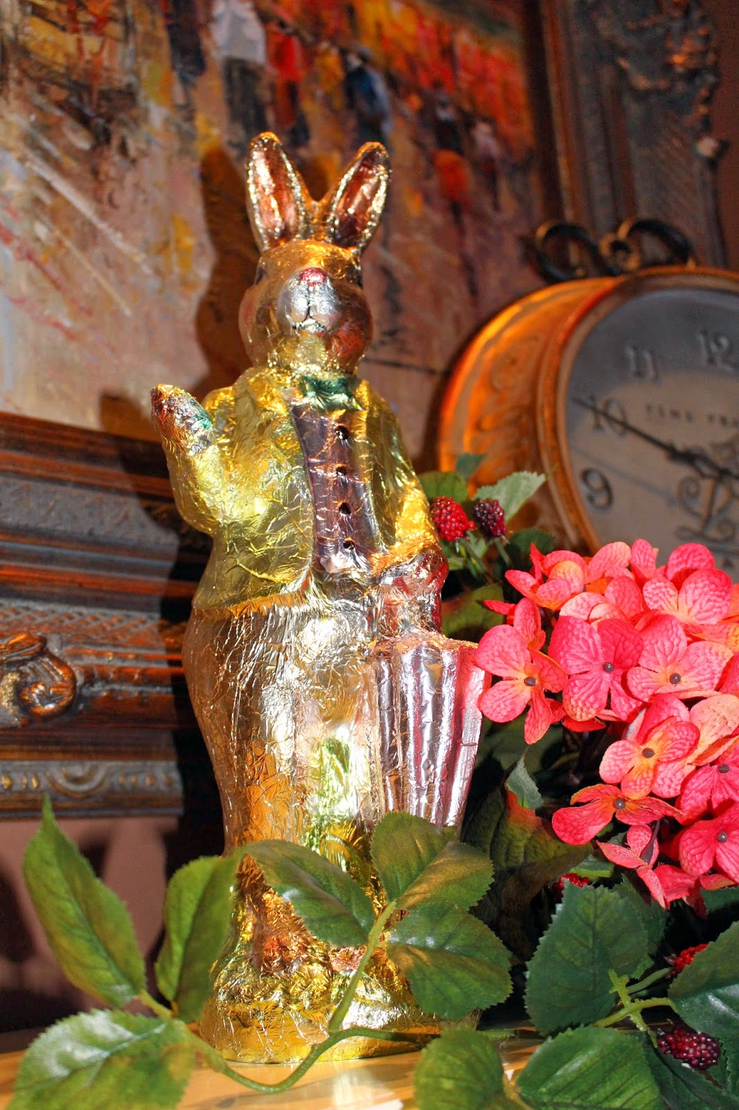 Foil Easter Decorations Wrapped in Easter Foil
