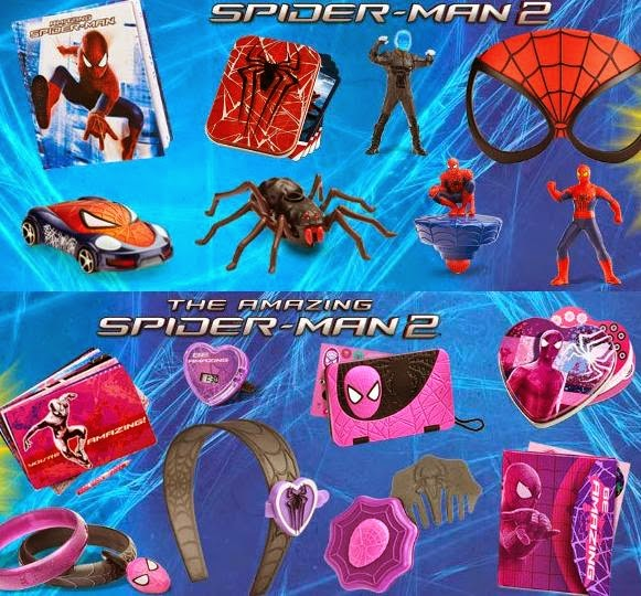 McDonald's Happy Meal Pink Spider-Man 2 Toys, McDonald's Happy Meal