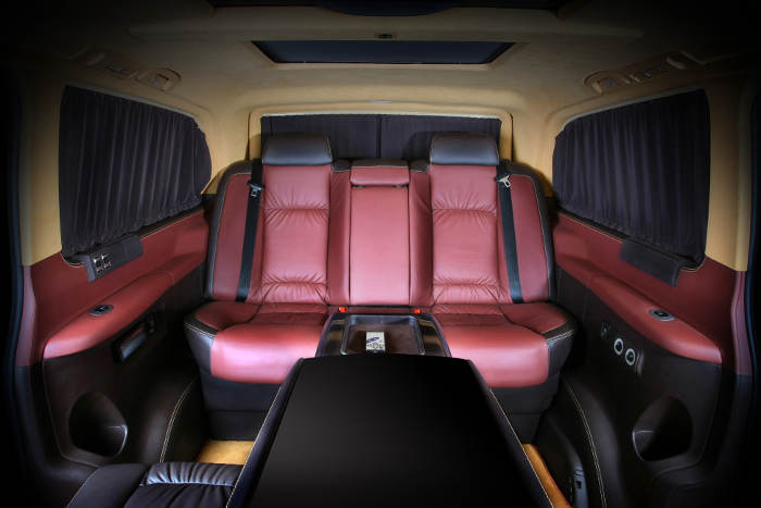 Russian tuner gives new mercedes viano a business makeover for Interior mercedes viano