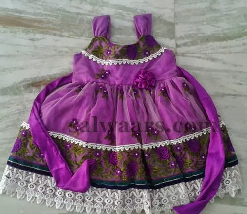 Purple Frock for Fairy Skin