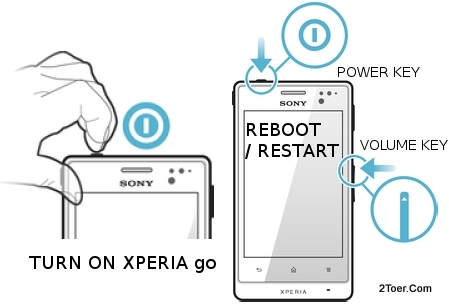 Turn Sony Xperia go On Reboot ST27i ST27a