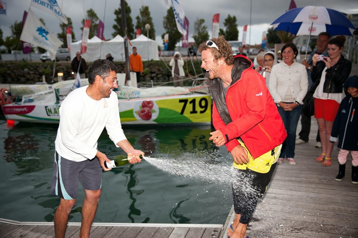Champagne pour Nico Boidevezi et Giancarlo Pedote !