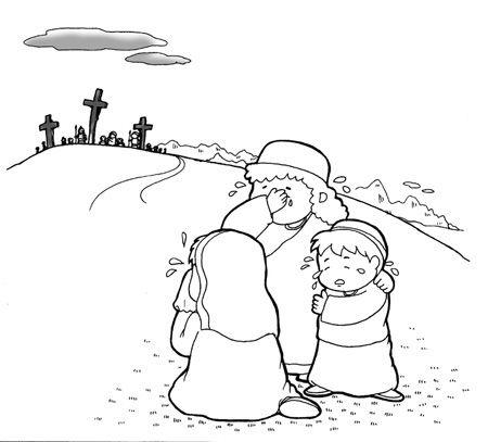 dibujos para colorear muerte de Jesús