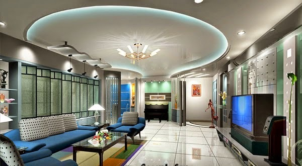 Led false ceiling lights for living room led strip for Interior design lighting living room