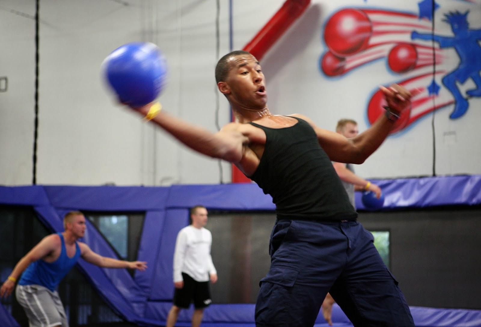 mark kodiak ukena trampoline dodgeball tournament