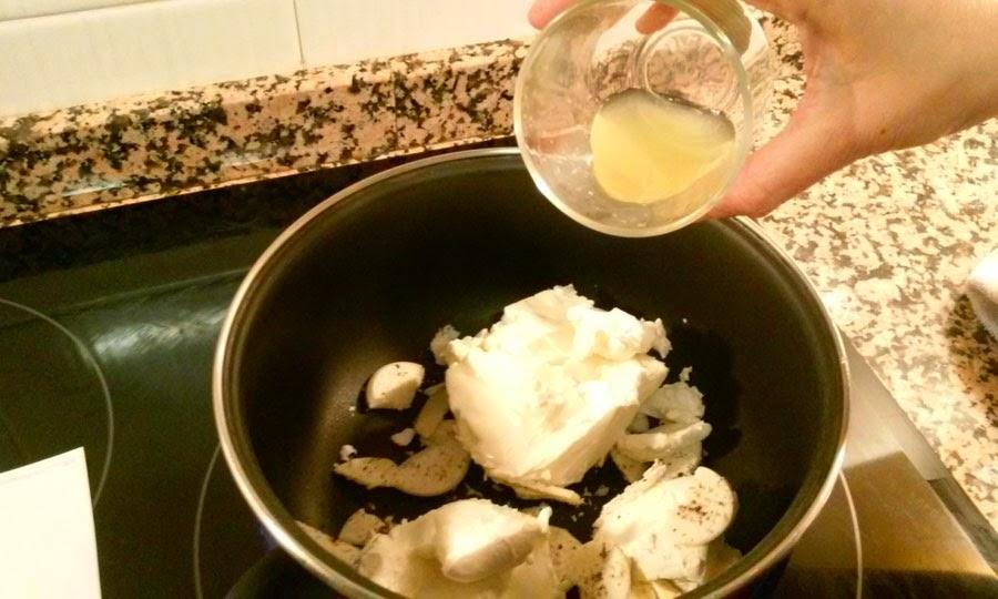 añadimos el zumo de limon