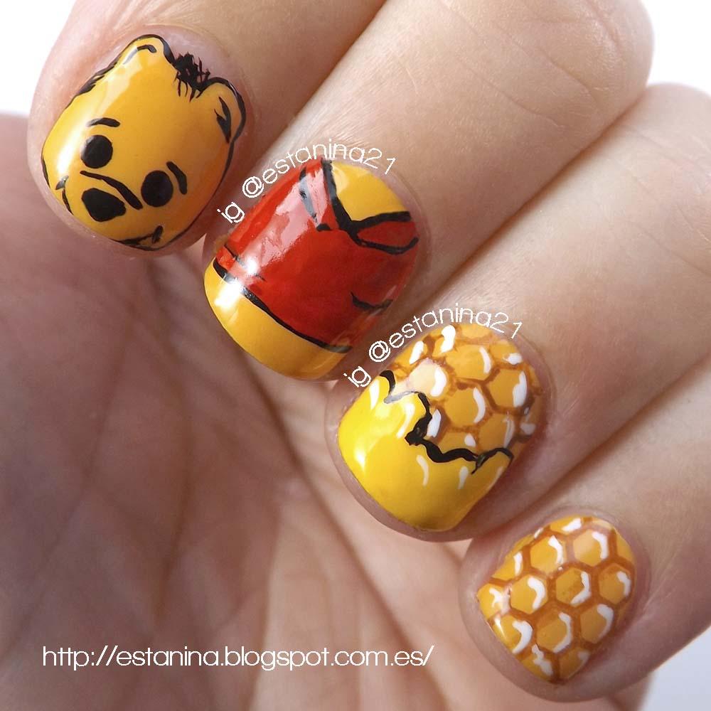 Un osito Cuqui: uñas de Winnie the Pooh - Mi Stand de Uñas Decoradas