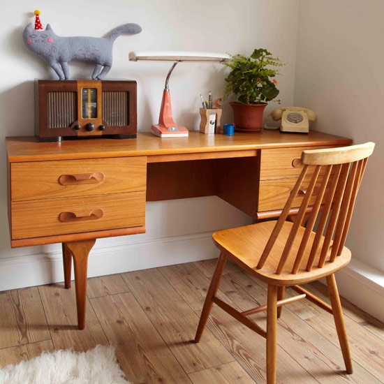 Limited Space Small Home Office Retro Look