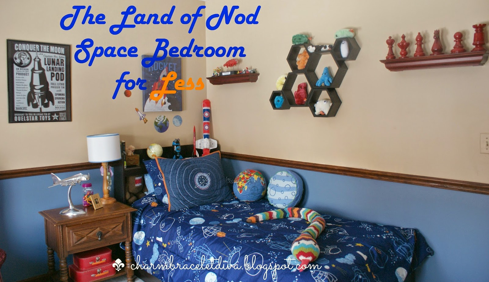 How to create a Land of Nod boy's space-themed bedroom on a budget