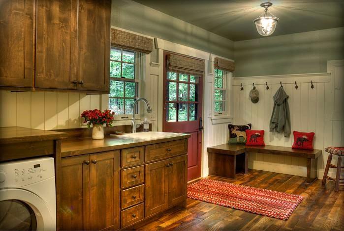 Деревянный дом в американском стиле, кухня