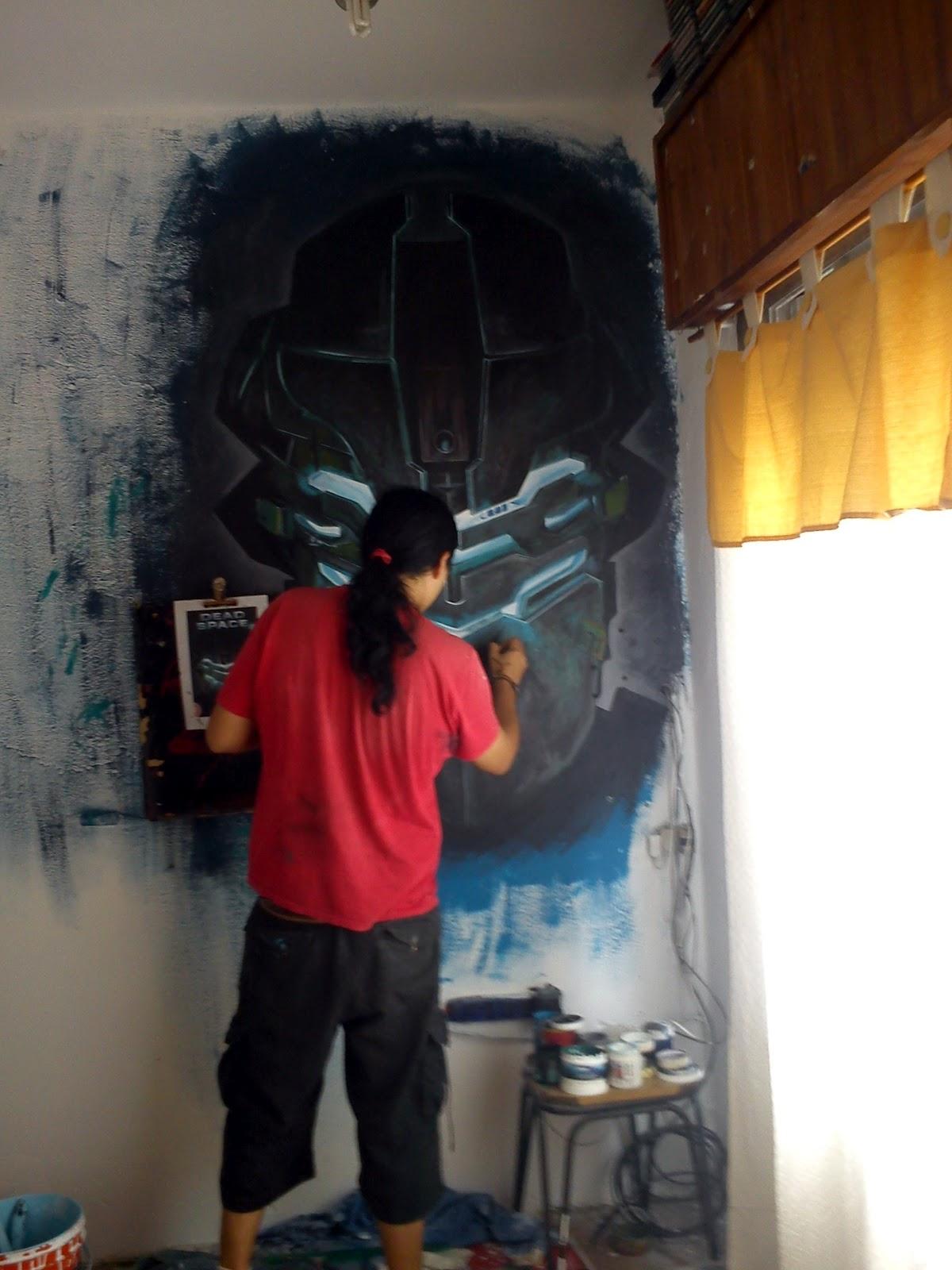 Un mural en mi cuarto dead space 2 encontrarte for Como pintar un mural