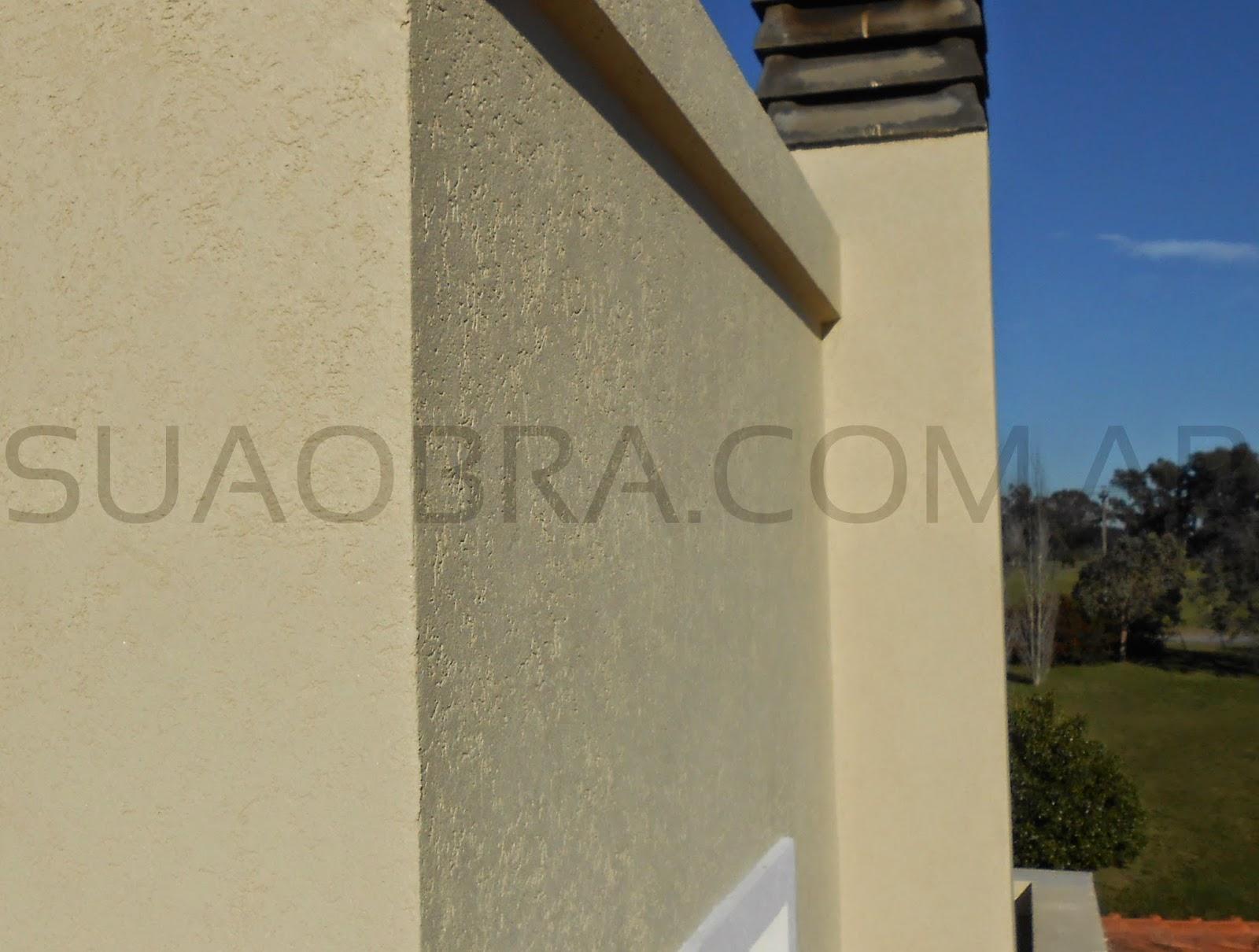 Revestir pared exterior tarquini aplicacion plasticos - Revestir paredes exteriores ...