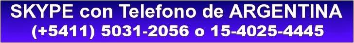 SKYPE con Telefono de ARGENTINA (+5411) 5031-2056