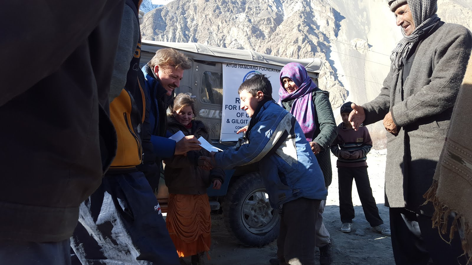 AHF RELIEF AT YARKHUN UPPER CHITRAL