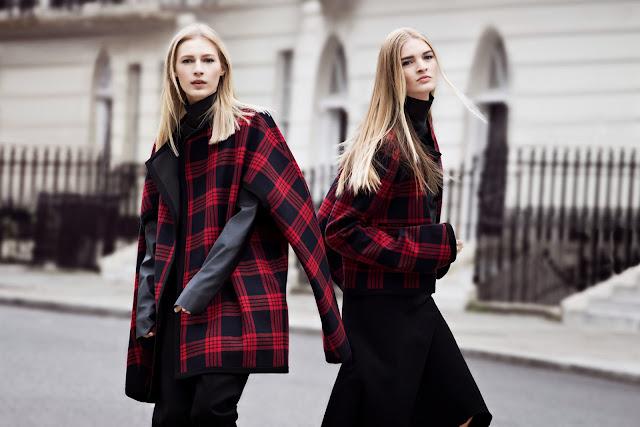 zara autumn/winter campaign, zara tartan coats, tartan trend