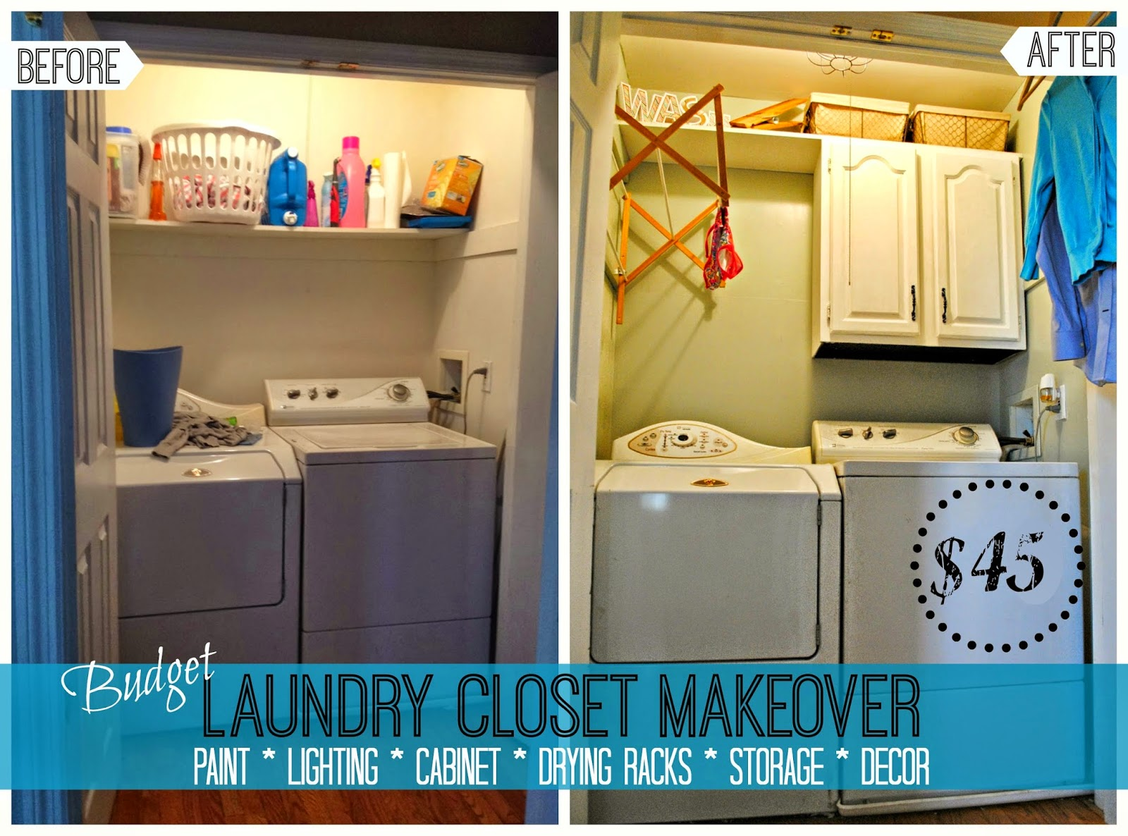 The Good News Is The Laundry Room/closet Makeover Is Complete. The Bad News  Is The Washer Decided To Conk Out Completely About 3.2 Seconds After ...