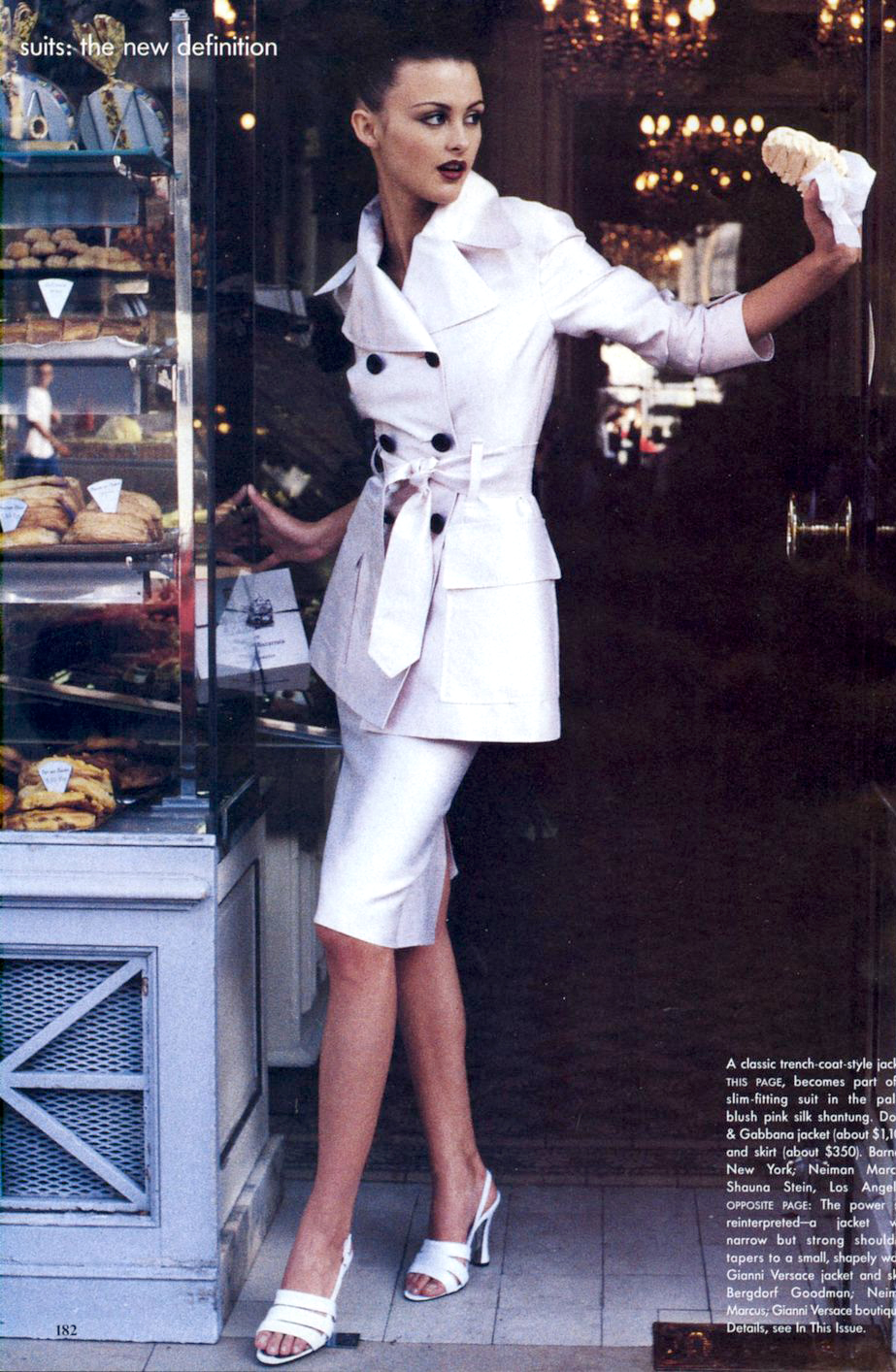 Trish Goff in Suits: the new definition / Vogue US January 1995 (photography: Pamela Hanson, styling: Brana Wolf) via fashioned by love british fashion blog