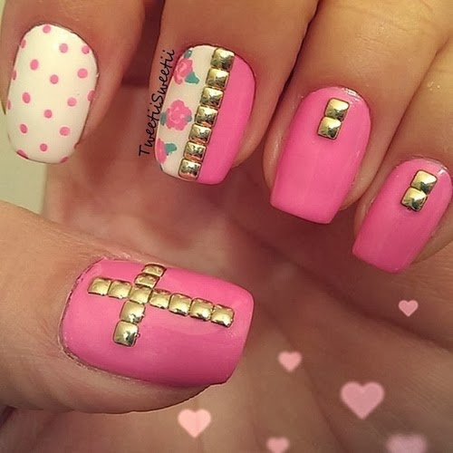 Nail Art with Rhinestones 2014