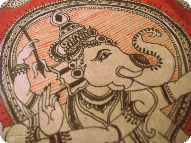 Madhubani design of Ganesha