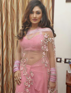Ramya Sri hot saree stills