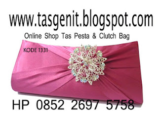 jual tas pesta, clutch bag pink
