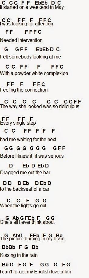 Flute Sheet Music English Love Affair