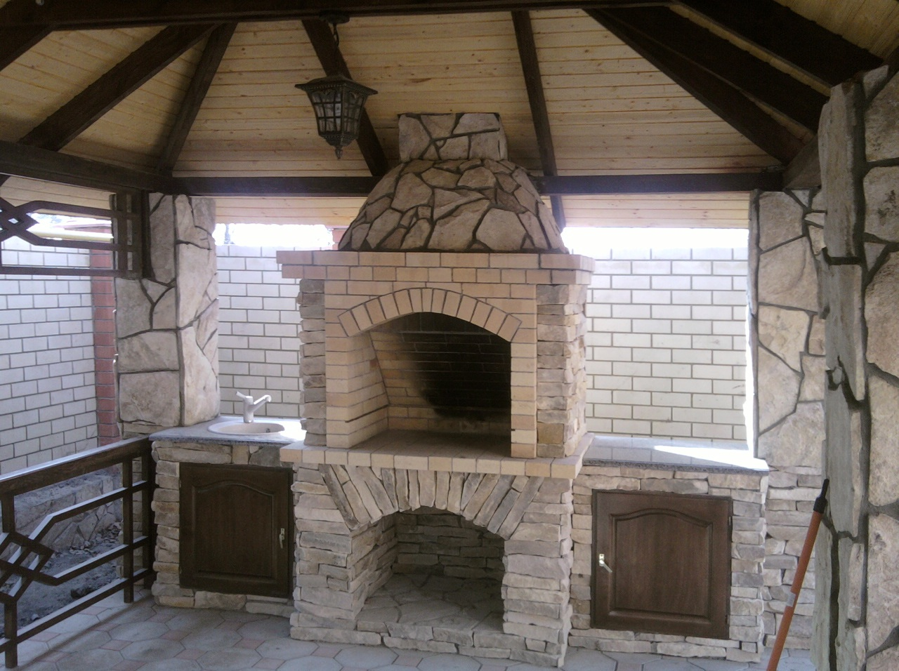 Smart placement gazebo with fireplace ideas architecture for Plans for gazebo with fireplace