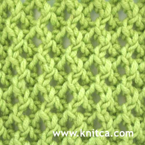 Knitting Reversible Lace Stitches : knitca: Pretty stitch pattern for a scarf or a hat