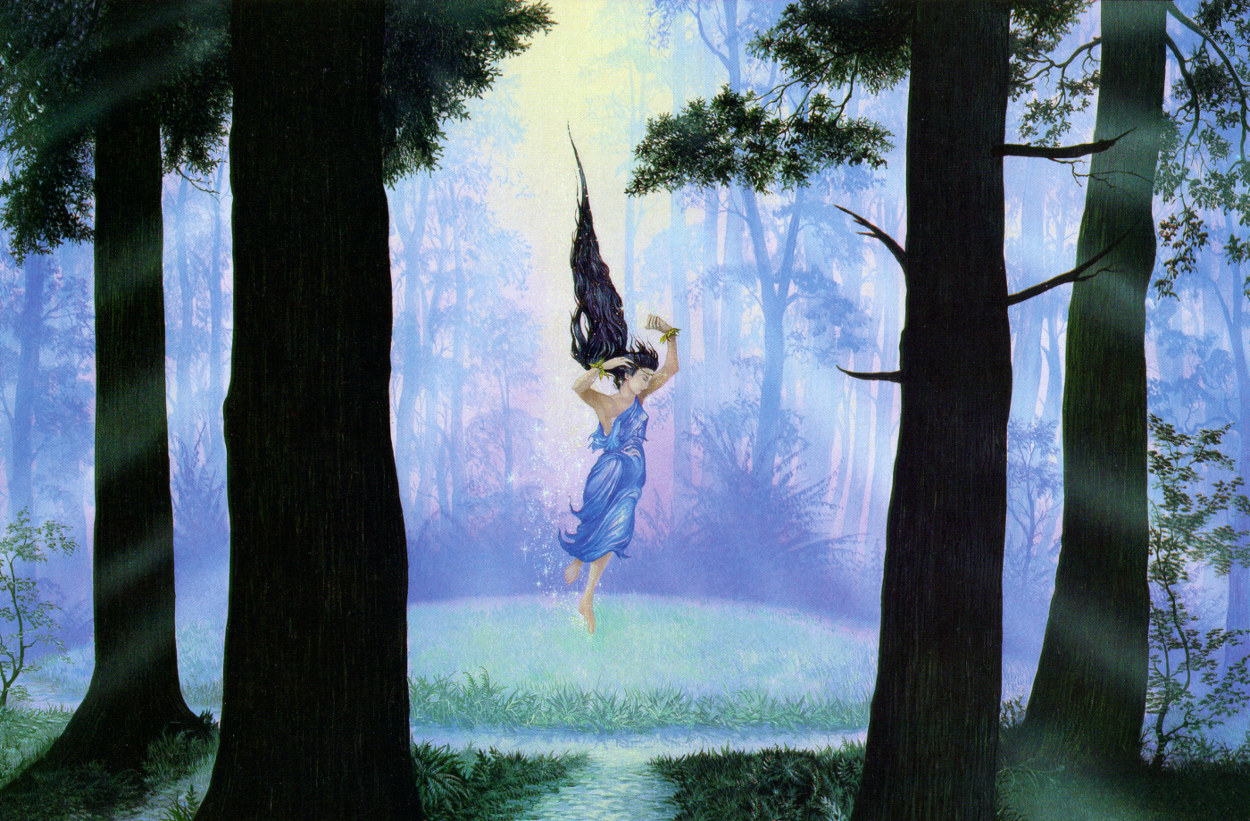 Luthien in the woods of Neldoreth