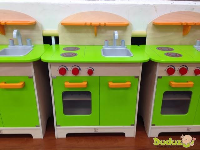 德國 Hape 愛傑卡角色扮演廚房系列 - 大型廚具台