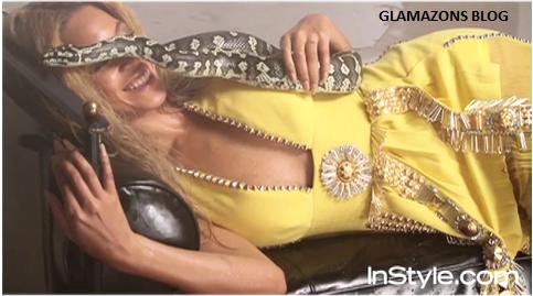 ADORACIÓN A LA SERPIENTE - Página 3 Beyonce-with-snake-In-style-Mag
