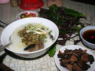 Chinese Trapa Bicornis Porridge - a poisonous buld has become a nutritious dish