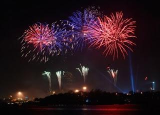 194 Perayaan malam pergantian tahun di Jakarta