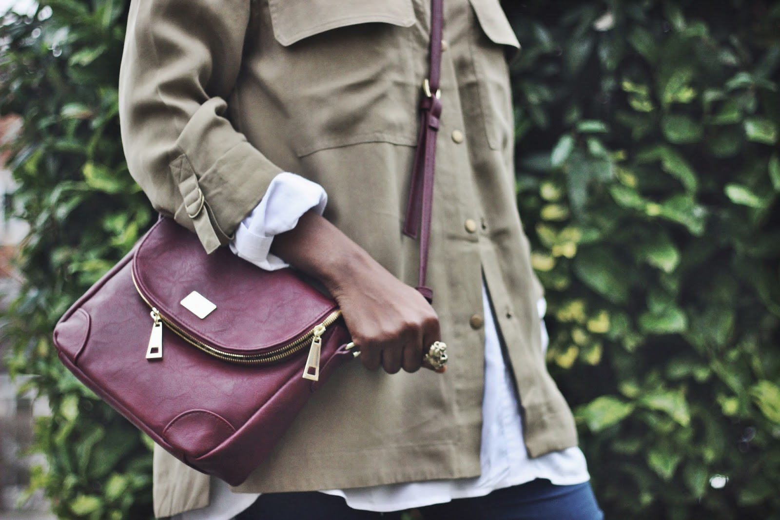 Mini Darcy Bordeaux Cross Body Bag by marc b