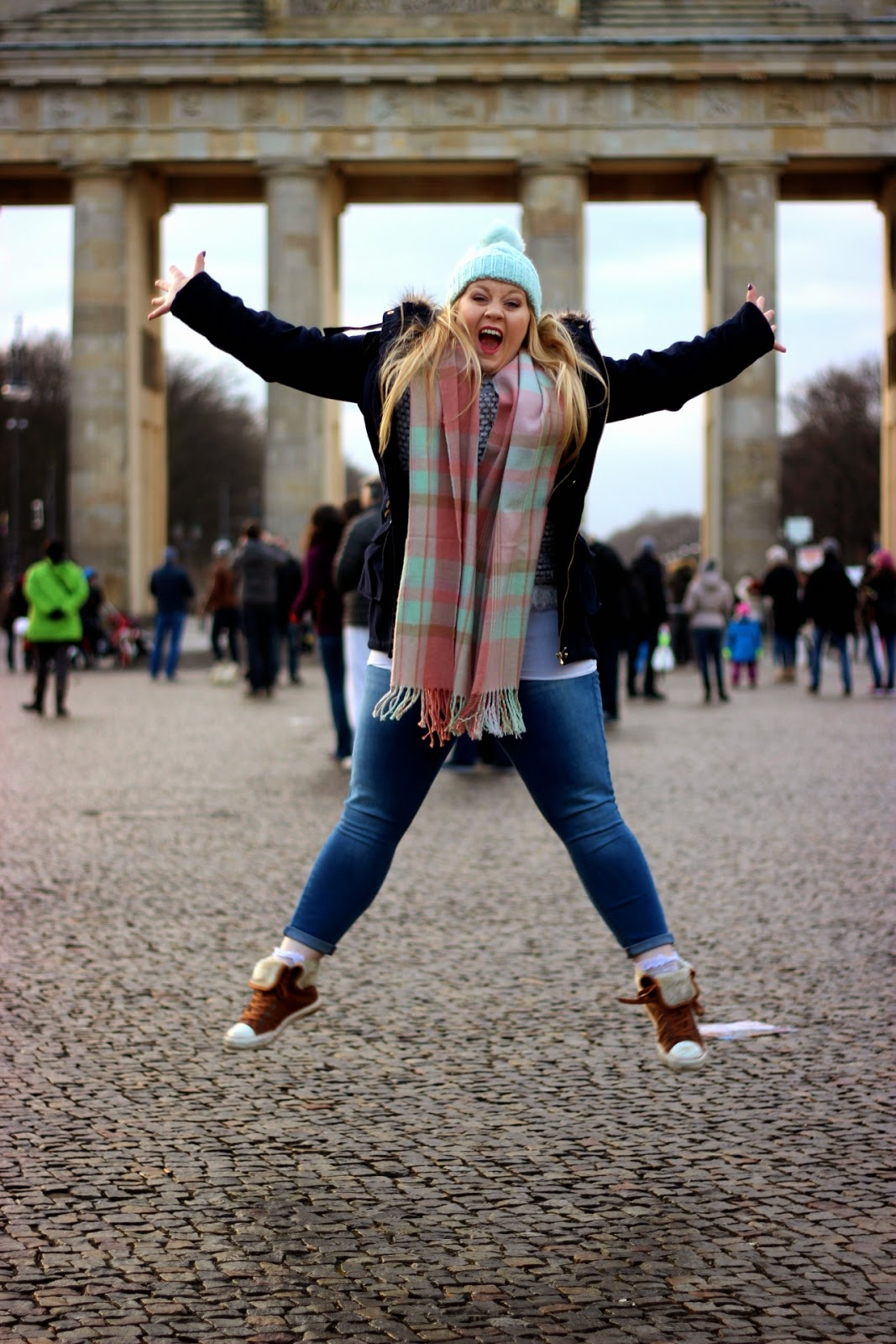 Brandenburg Gate Berlin Germany Winter Outfit