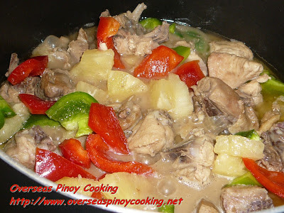 Pininyahang Manok with Gata - Cooking Procedure