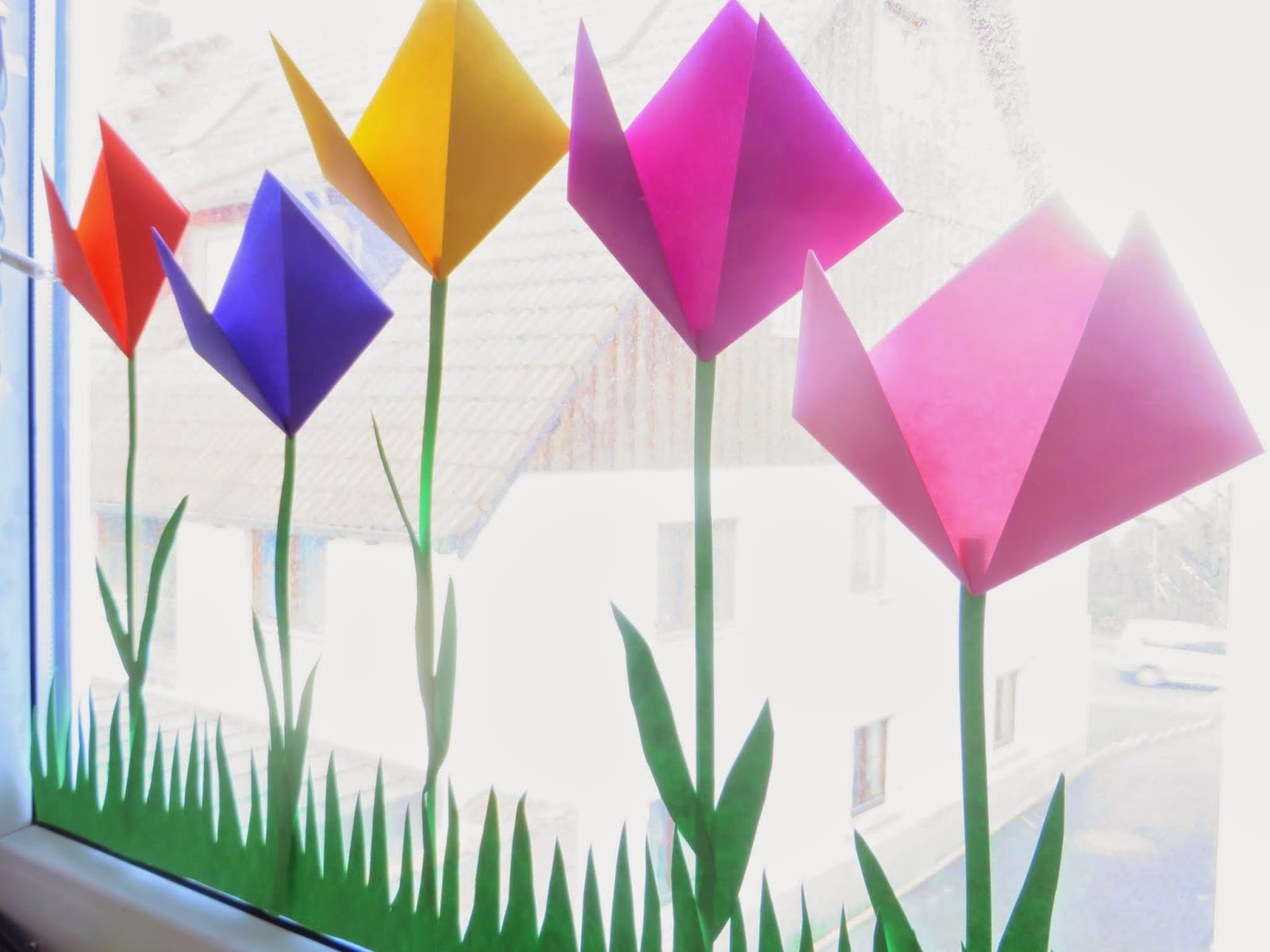 Tulpenwiese fürs Fenster