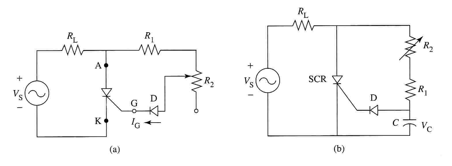 Circuito Retificador : Scr retificador controlado de silício disparo e interrupção do