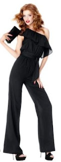 ruffle shoulder tall jumpsuit 33 inseam