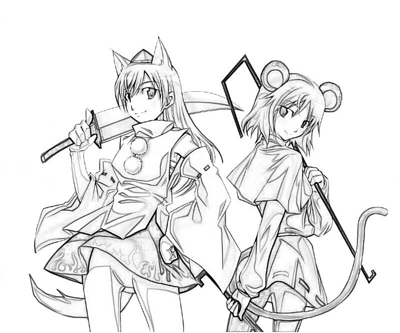 nazrin-and-friends-coloring-pages