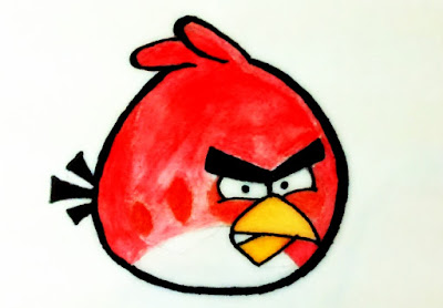 Red Bird painting from Angry Birds