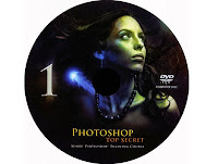 PhotoShop TopSecret Collection DVD1 Label by www.maxginez3.com