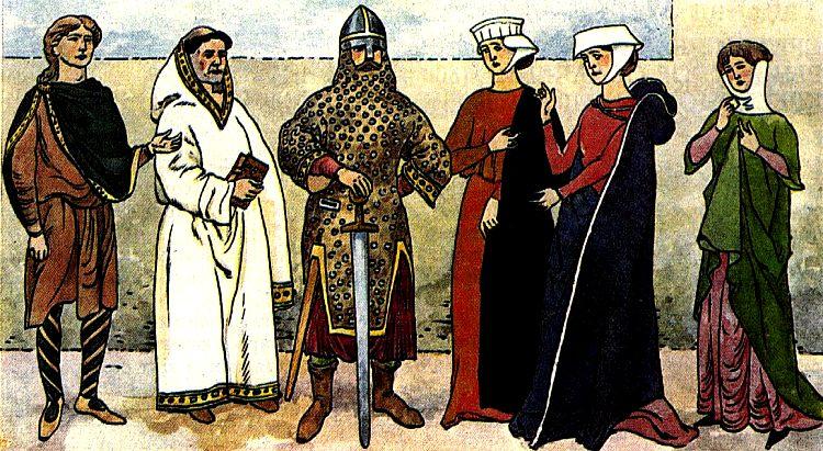 Женская Одежда 14 Века.