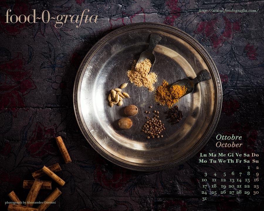 spices spezie desktop wallpaper calendar calendario