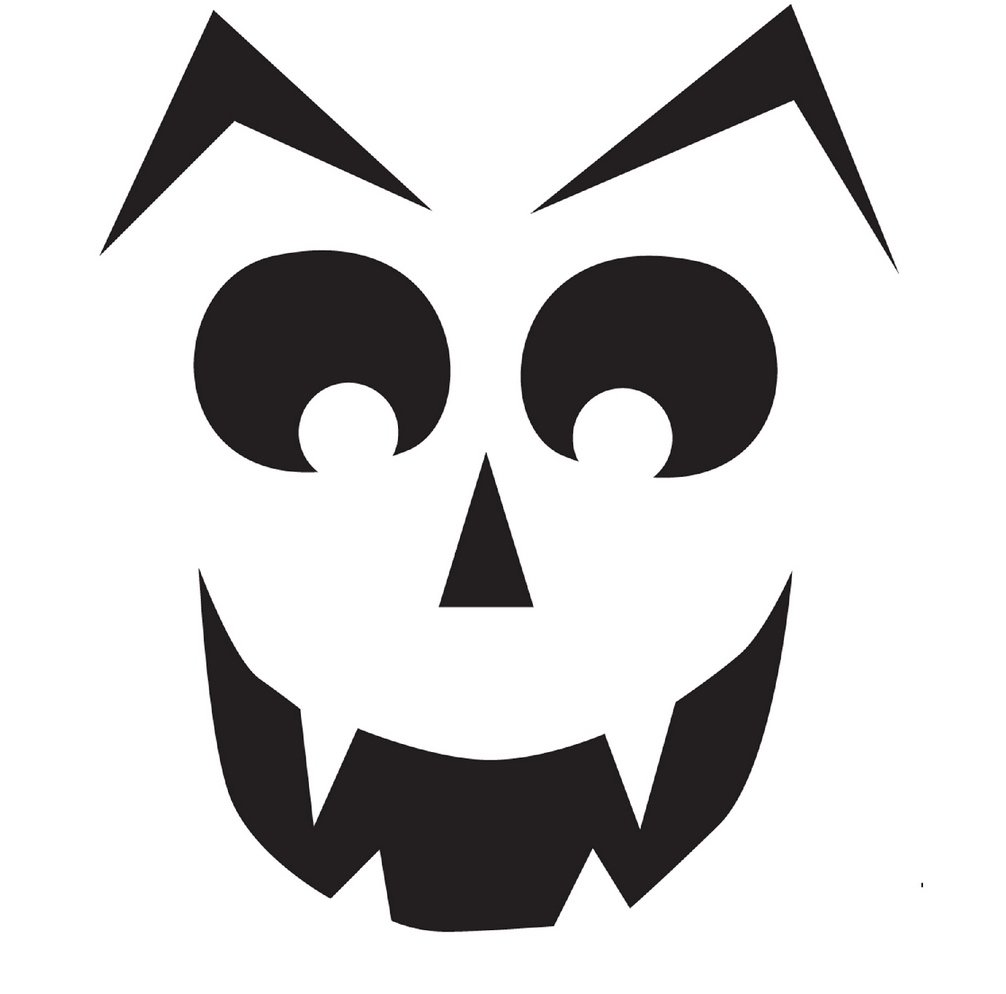 Geeky image in printable halloween stencils