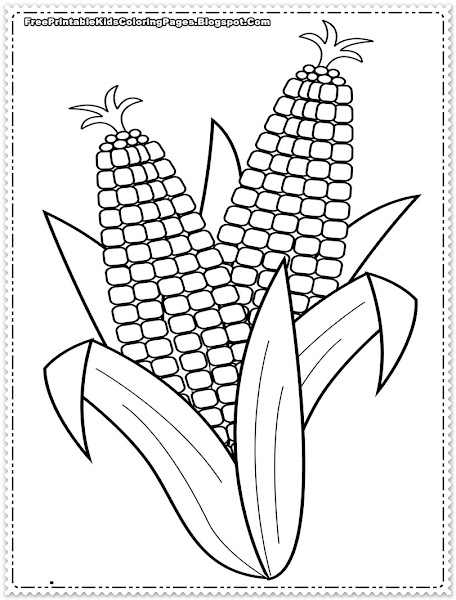 Corn Coloring Pages Printables