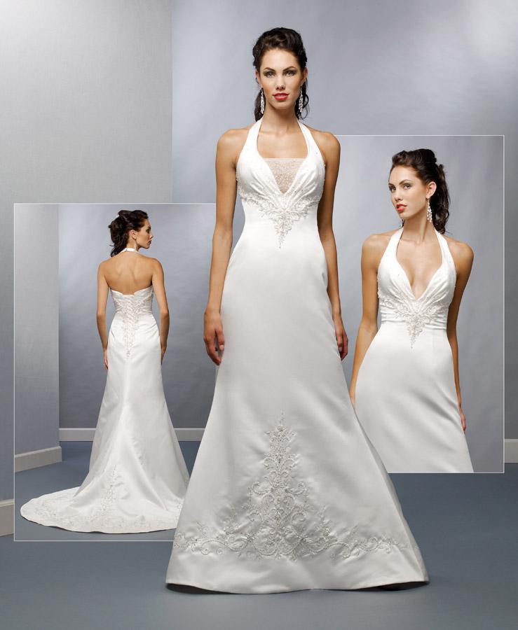 wedding dress designs cleavage open wedding dress
