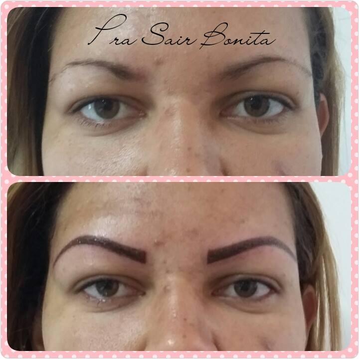 antes e depois de micropigmentação de sobrancelhas
