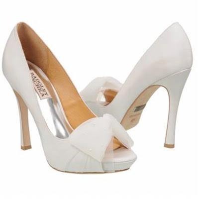 Badgley mischka bridal shoes tulle ribbon