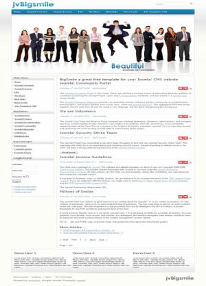 Share template JV BigSmile - Joomla 1.5